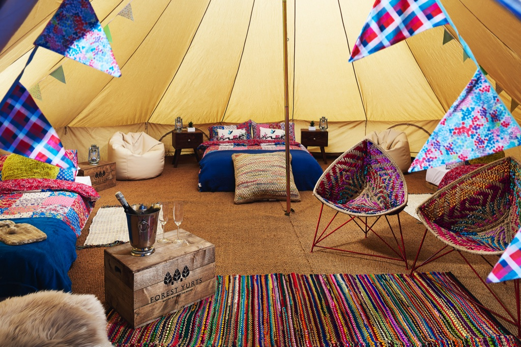 Vintage England Bell Tent & Forest Bell Tents - luxury bell tents for hire